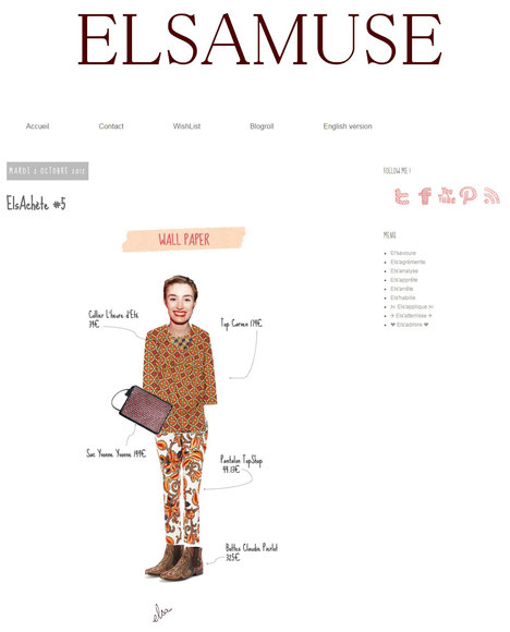 Le sautoir Damier est dans la sélection de la blogueuse Elsamuse