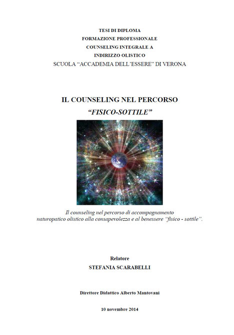 Tesi Counseling olistico integrale Stefania Scarabelli