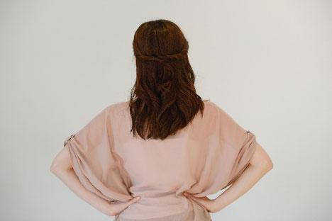 座っていると腰の痛い女性