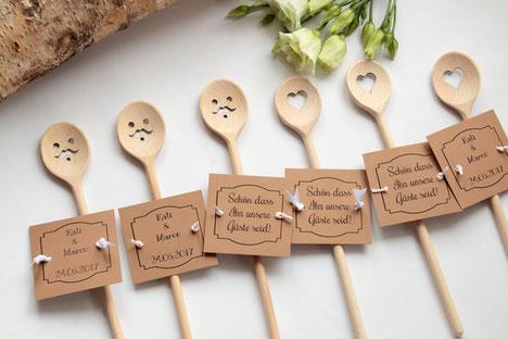 Gastgeschenke für Hochzeit 2017 NEU!!! auch mit Schnurrbart erhältlich