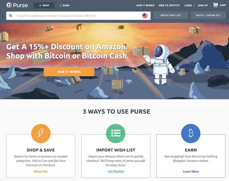 purse come funziona pagare con bitcoin su amazon