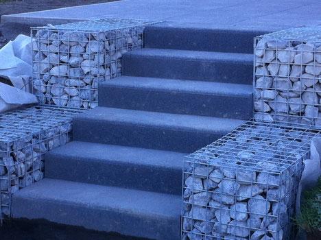 aménagement extérieur escalier pavage dallage terrasse