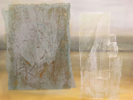 o.T., Acryl/ Collage auf Leinwand, 60 x 80, 2010