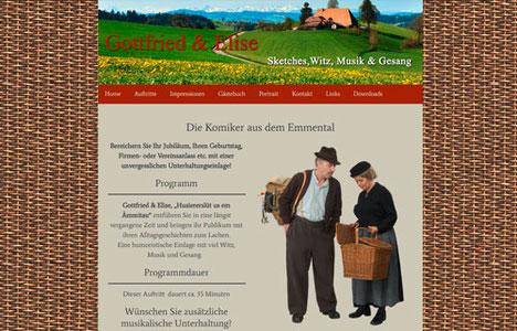 Gottfried & Elise, die Komiker aus dem Emmental