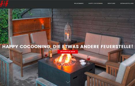 Happy Cocooning, die neuen Feuertische ohne Rauch nun auch in der Schweiz