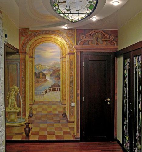 Роспись квартиры на Грибоедова.