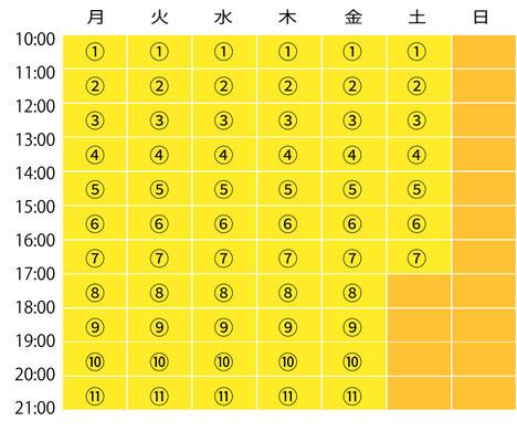 スモールジムスイートフィットネス体験予約表