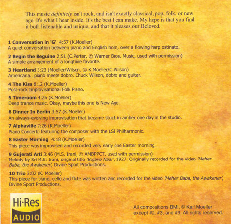 "CD : ""The Kiss"" - back cover. 2nd Edition"