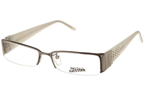 Occhiali da vista donna Jean Paul Gaultier 044 568S. Colore: Argento e bianco. Materiale: metallo.