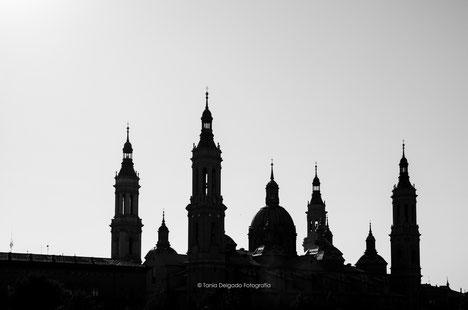 Zaragoza, arquitectur, basilica del pilar, el pilar, aragón, fiestas del pilar, paisaje, skyline