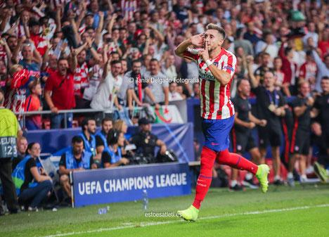 champions league, uefa, hector herrera, gol, celebracion, atletico de madrid, juvenus, wanda metropolitano