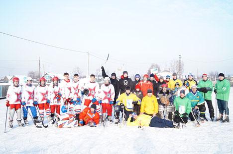 Турнир по хоккею с мячом. Январь 2016г. ,п. Мирный