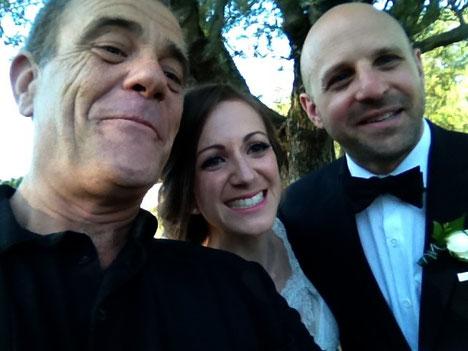 Selfie with Monica and Joe