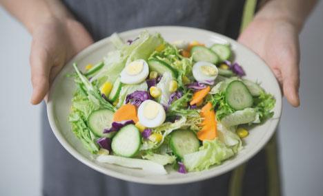 Minimalist Biohacker Salad Bowl Vegetables