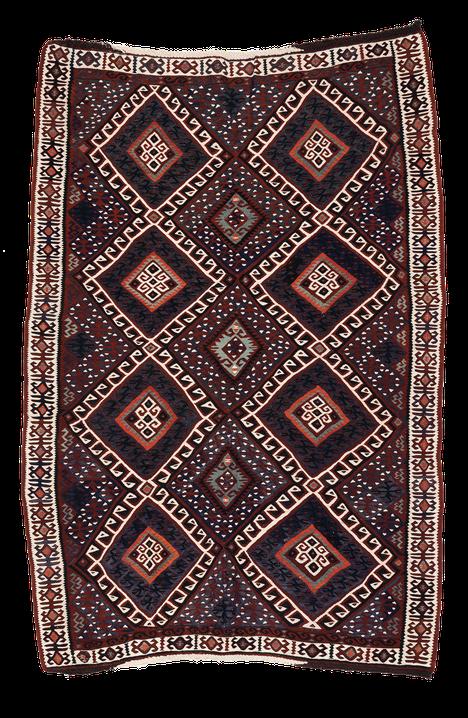 Teppich. Zürich. Vintage Van Kilim from Anatolia. Handgewebter Teppich, Van Kelim.