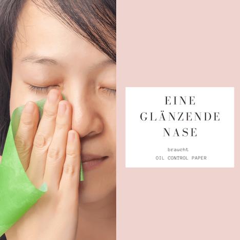 Fettige Stirn und glänzende Nase behandeln