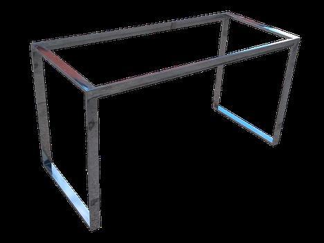 Estructura o bastidor para peninsula en acero inoxidable