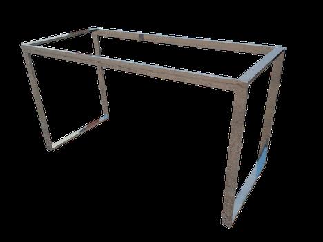 Estructura o bastidor para mesa en acero inoxidable