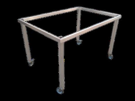 Estructura para mesa acero inoxidable con ruedas