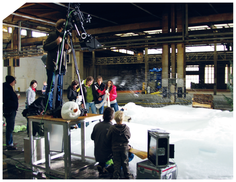 """Commercial Super RTL"" (Cologne), Indoor snowmaking for advertisement trailer"