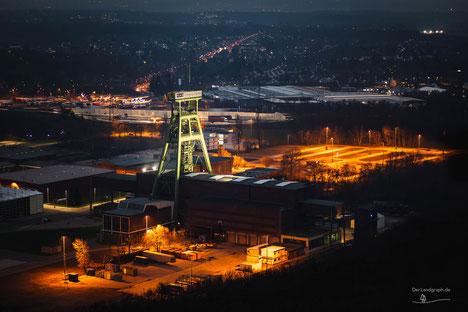 Bergwerk Zeche Prosper-Haniel mit Förderturm in Bottrop, Ruhrgebiet, Deutschland, Industriekultur, Industrie, Zechen, Bergbau, Steinkohle