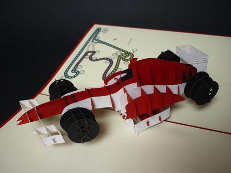Carte Pop-Up Formule 1