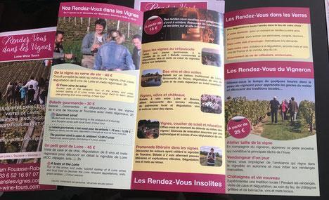 dépliants-Rendez-Vous-dans-les-Vignes-visite-vignoble-cave-degustation-vin-oenologie-Touraine-Tours-Amboise-Vouvray-Vallee-Loire
