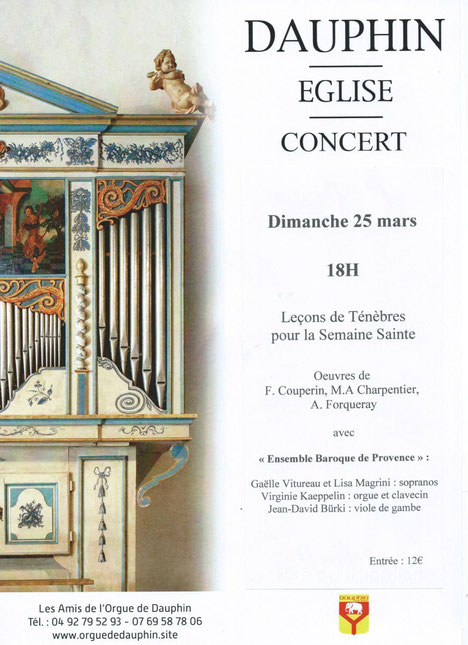 Concert de musique baroque à Dauphin. Lisa Magrini Soprano