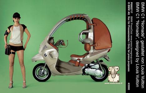 scooter Louis Vuitton et BMW nomade musée munich