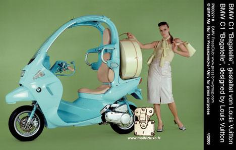 scooter Louis Vuitton et BMW bagatelle musée Asniére
