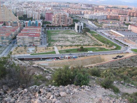 Vista parcial del campo de los Almendros