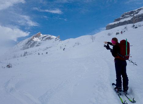 Skitour, Schwyz, Zentralschweiz, ÖV, Rossstelli, Weglosen, Twäriberg, Druesberg, Forstberg