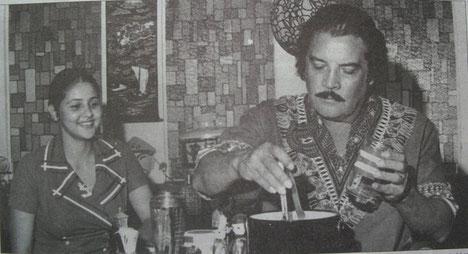 Luz Dary Padredrin y Daniel Santos en Cali - 1971.