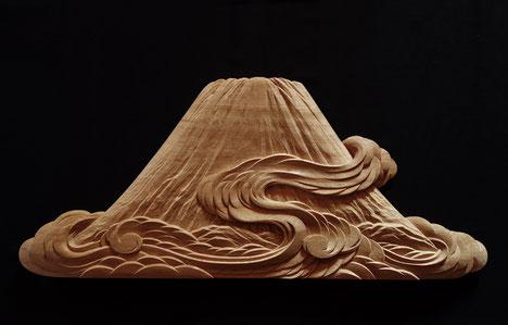 木彫 壁掛け 瓢箪 こまどり