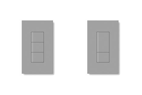 グレーのスイッチの画像