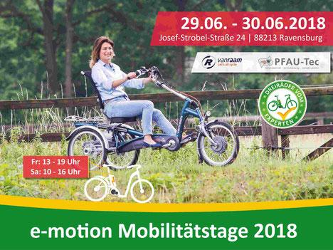 e-motion Dreirad Mobilitätstage in Ravensburg