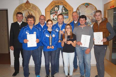 Die Gewinner der Gemeindemeisterschaft 2019 (c) Heidrun Budke