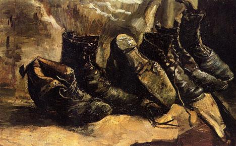 "V. Van Gogh, ""Un paio di scarpe"""