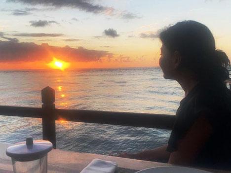zonsondergang Derawan archipel Sangalaki eiland