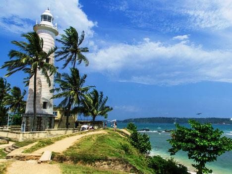 Iconische vuurtoren van het vestingstadje Galle op zuid Sri Lanka