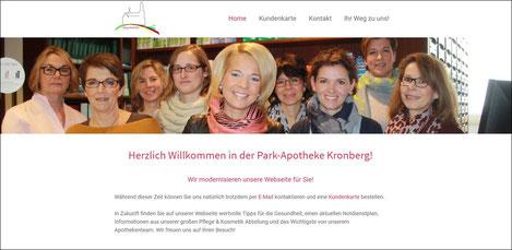 Webseite Park-Apotheke Kronberg