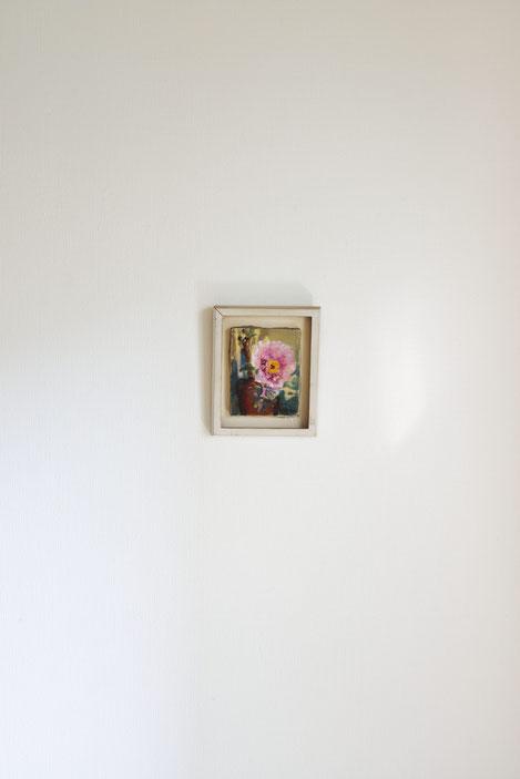 榎倉省吾, 「牡丹」, 18x14cm, oil on canvas, 制作年不明