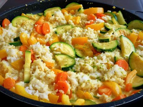 Curry-Gemüsereis