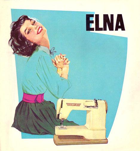 Titel eines Elna-Werbeprospekts von 1961