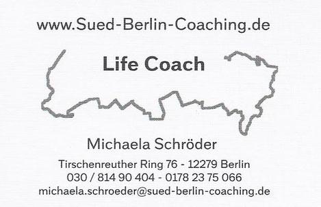 Michaela Schröder - Life Coach Berlin (Personal Coach) - Ihr Sparringpartner für Lebensthemen aus dem Süden von Berlin.