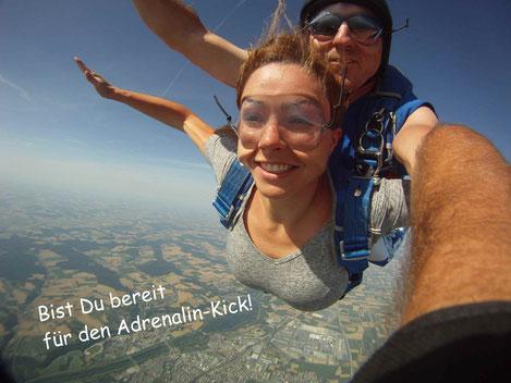 Fallschirmspringen Tandemsprung München. Mit Edi Engl den Fallschirmsprung nähe München erleben.