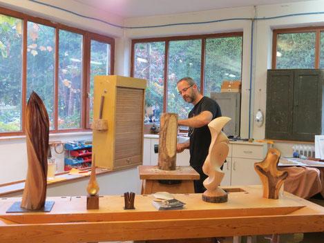 Skulpturenpräsentation und Vorführung, Foto: Schreinerei Studnicka
