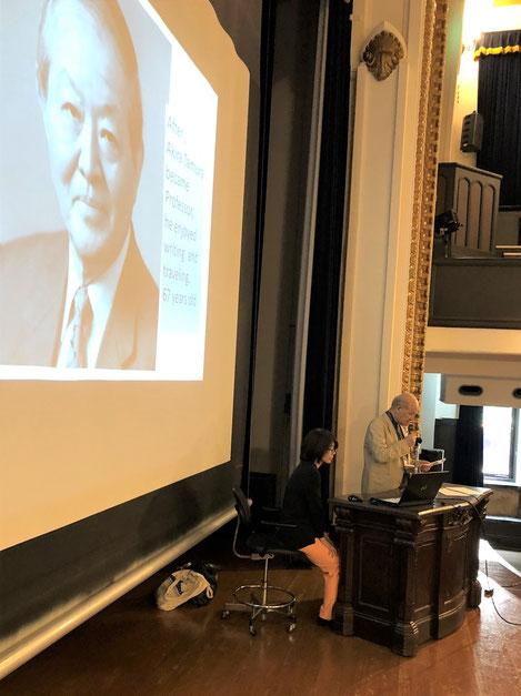 国際都市計画史学会2018横浜大会で発表する田村千尋NPO理事長 Chihiro Tamura at the IPHS2018Yokohama