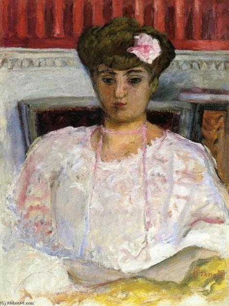 Pierre Bonard, Interior con desnudo 1905. Retrato de la pianista polaca conocida como Misia, mujer de personalidad fascinante, se movió en ambientes intelectuales, íntima amiga de Chanel.
