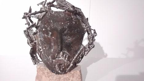 Venancio Blanco.Cabeza de Cristo 1961.Bronce fundido a la cera perdida. Colección Venancio Blanco.